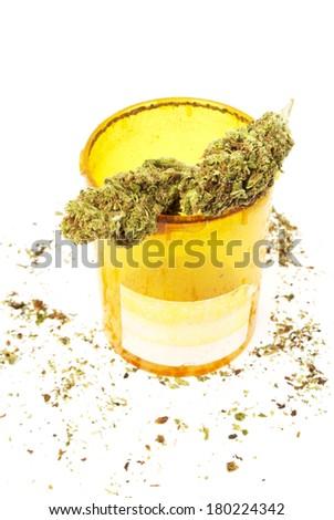 Marijuana, Medical Marijuana Business, Rx Prescription Weed - stock photo