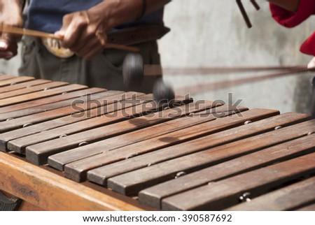 Marimba. Guatemala - stock photo