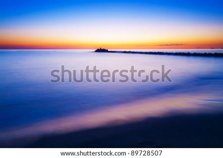 Marina di Massa's beach - stock photo