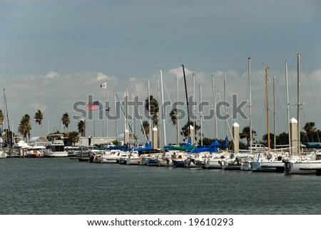 Marina in Corpus Christi, TX USA - stock photo