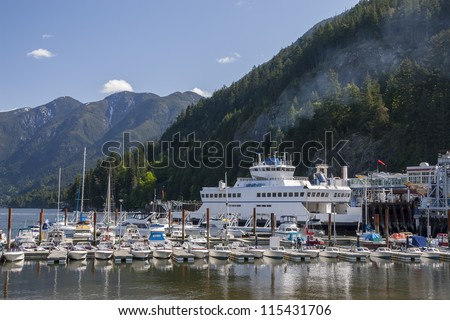Marina in Horseshoe Bay, West Vancouver, Canada