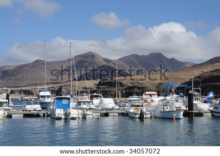 Marina in Morro Jable, Canary Island Fuerteventura, Spain