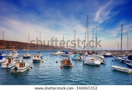 marina in Opatija. Croatia.  - stock photo