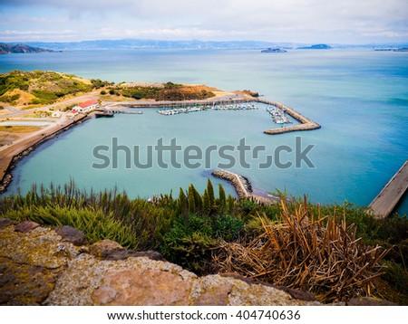 Marina in the San Francisco Bay - stock photo