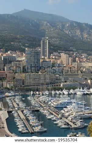 Marina of Monte Carlo in Monaco - stock photo