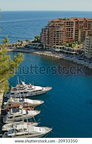 Marina of Monte Carlo in Monaco - stock photo