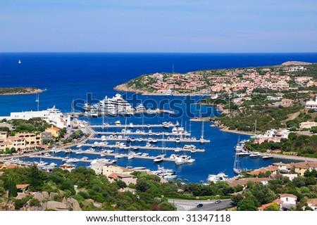 Marina of Porto Cervo - stock photo