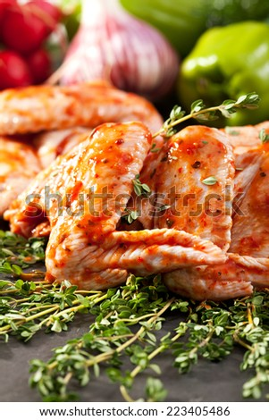 Marinated Chicken Wings on Thyme