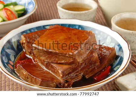 Marinated dried tofu - A Popular Chinese food - stock photo