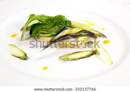 marinated fish - stock photo