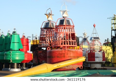 Marine beacons - stock photo