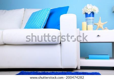 Marine decor in interior - stock photo