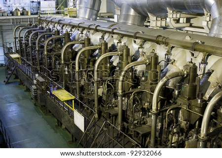 Marine engine - stock photo