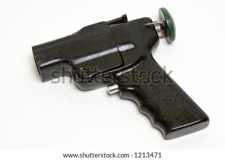 Marine Flare Gun, isolated with clipping path. - stock photo