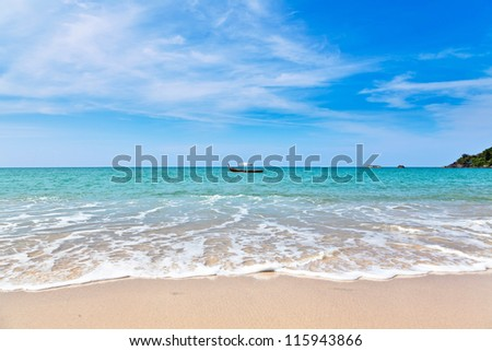 Marine landscape.  Khao Lak Beach. Thailand. - stock photo