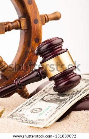 marine law - stock photo