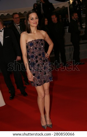 Marion Cotillard attends the 'Macbeth' Premiere during the 68th annual Cannes Film Festival on May 23, 2015 in Cannes, France. - stock photo