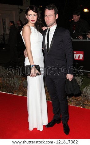 Mark Cavendish and Peta Todd arriving for The Sun Military Awards, at The Imperial War Museum, London. 06/12/2012 Picture by: Alexandra Glen