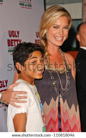 "Mark Indelicato and Rebecca Romijn at the ""Ugly Betty"" Season One The Bettyfied Edition DVD Launch Party. Skybar, Hollywood, CA. 08-20-07"