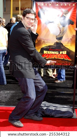 "Mark Osborne attends the Los Angeles Premiere of ""Kung Fu Panda"" held at the Grauman's Chinese Theater in Hollywood, California, United States on June 1, 2008.  - stock photo"