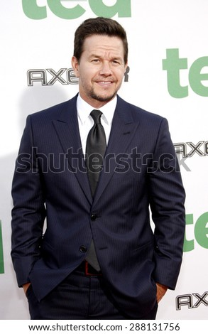 """Mark Wahlberg at the Los Angeles premiere of 'Ted"""" held at the Grauman's Chinese Theatre in Hollywood on June 21, 2012.  - stock photo"""