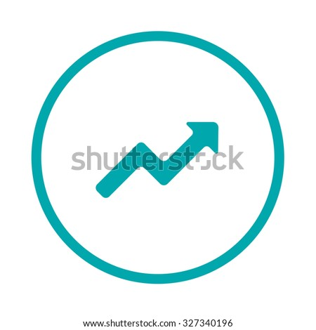 Marked Line Chart Icon - Chart Icon - Info Graphic Chart Icon - Business Growth Icon - Data Analysis Chart Icon - Concept Flat Style Design Illustration Icon - stock photo