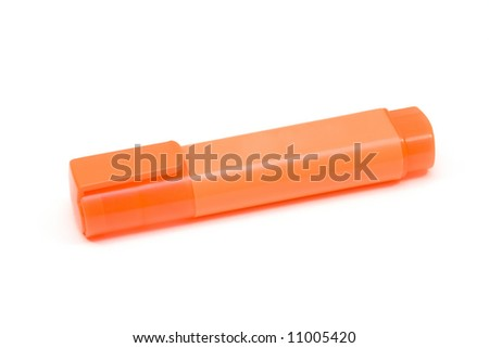 marker isolated on white - stock photo