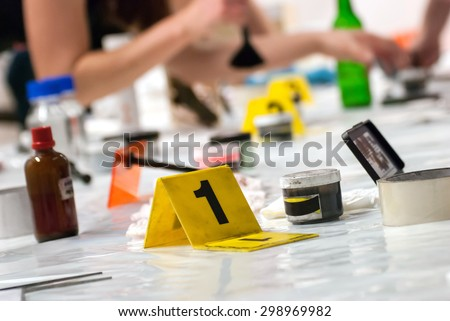 Marker of Crime Scene - stock photo
