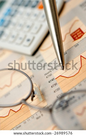 Market analyze - stock photo