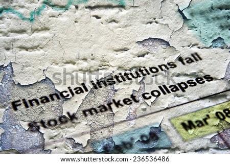 Market collapses - stock photo