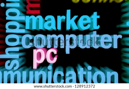 Market computer pc - stock photo