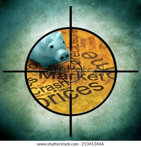 Market crash prices concept - stock photo