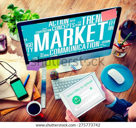Market Plans Ideas Advertising Business Strategy Concept - stock photo
