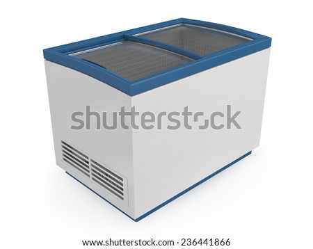 Market refrigerator - stock photo