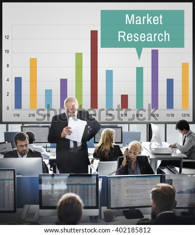 Market Research Analysis Consumer Marketing Strategy Concept - stock photo