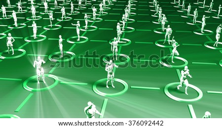 Market Research and Target Demographic Analysis in 3d - stock photo