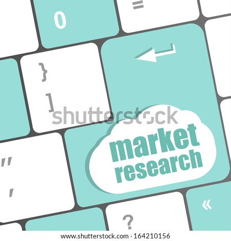 market research word button on keyboard - stock photo
