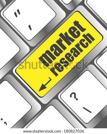 market research word button on keyboard keys, business concept - stock photo