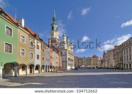Market square, Poznan, Poland - stock photo
