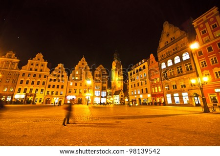 Market square tenements, Wroclaw Poland - stock photo