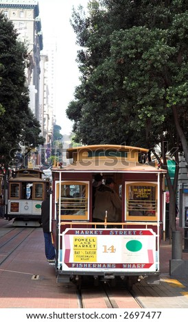 Market Street Cable Car (San Francisco) - stock photo