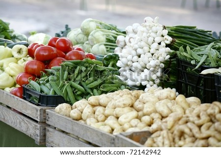 market vegetables - stock photo