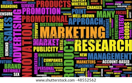 Marketing Background as Art with Related Terms - stock photo