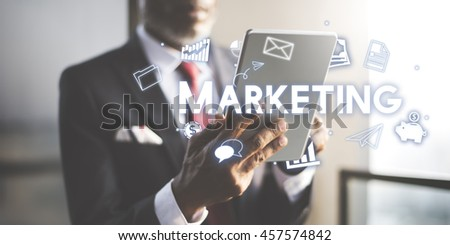 Marketing Business Advertising Commercial Branding Concept - stock photo
