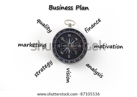 marketing business plan - stock photo