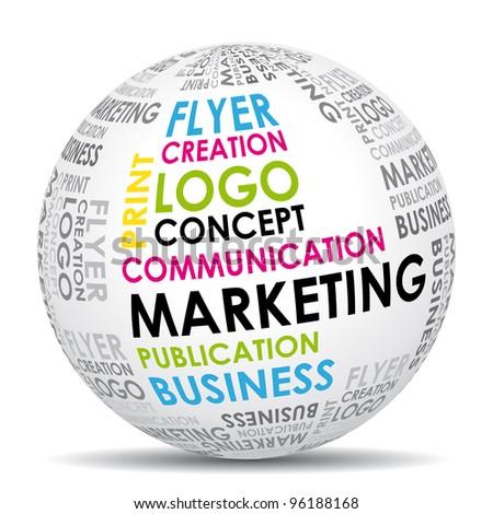 Marketing communication world icon. - stock photo