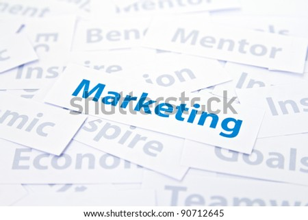 Marketing concept word
