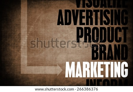Marketing Core Principles as a Concept Abstract background - stock photo