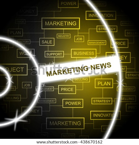 Marketing News Representing Email Lists And Promotion