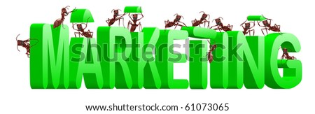 marketing or market strategy building positioning and targeting product towards clients - stock photo